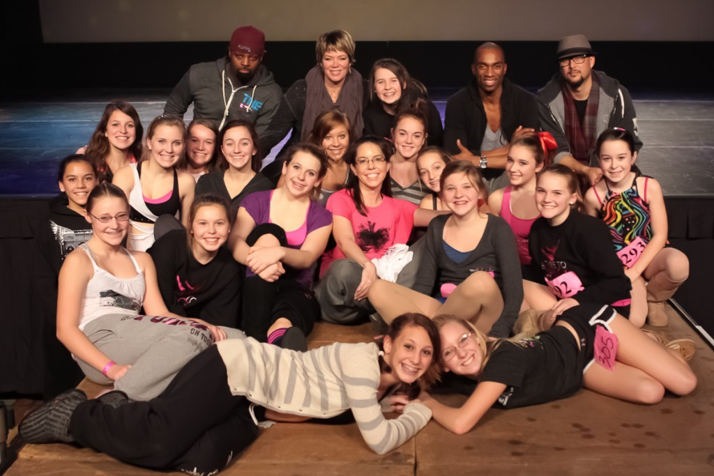 Our team with Mia Michaels, Dave Scott, Cris Judd, and Desmond Richardson.